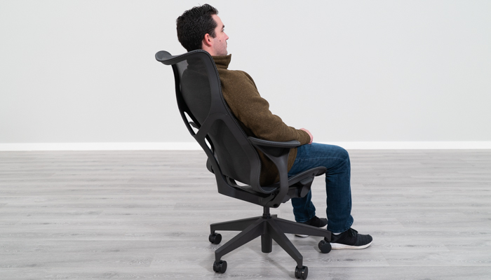 Seated in Cosm Showing Backrest