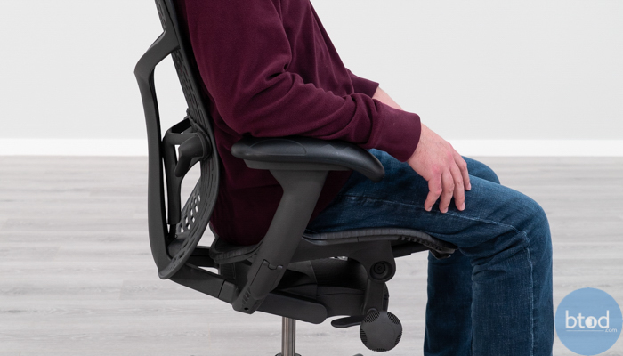 Herman Miller Mirra 2 Backrest Side View While Seated