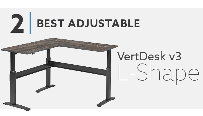 #2 Best L Shaped Adjustable Desk - VertDesk v3 L Shape