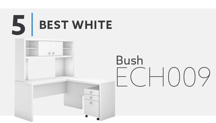 #5 Best White L Shaped Desk - Bush ECH009