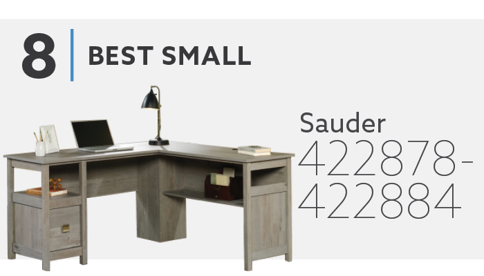#8 Best Small L Shaped Desk - Sauder Cannery