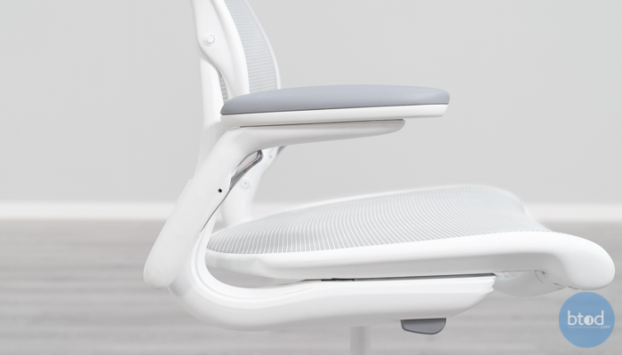 Humanscale Diffrient World Mesh Armrest Side View