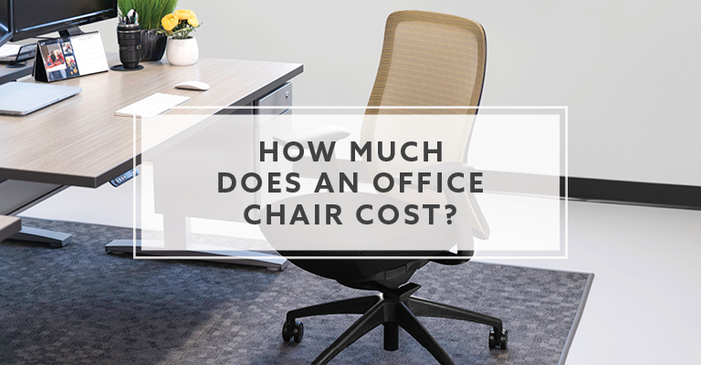 How much does an office chair cost in 2021?