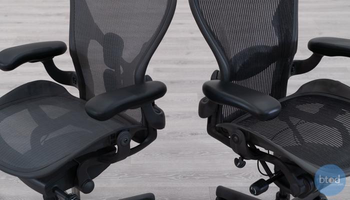 Backrest Comparison: Aeron Remastered vs Aeron Classic (right)