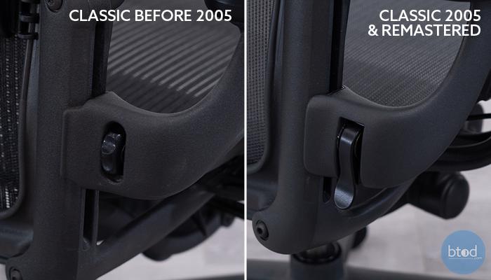 Classic Aeron Pre-2005 (left) vs. Classic/Remastered 2005-Today
