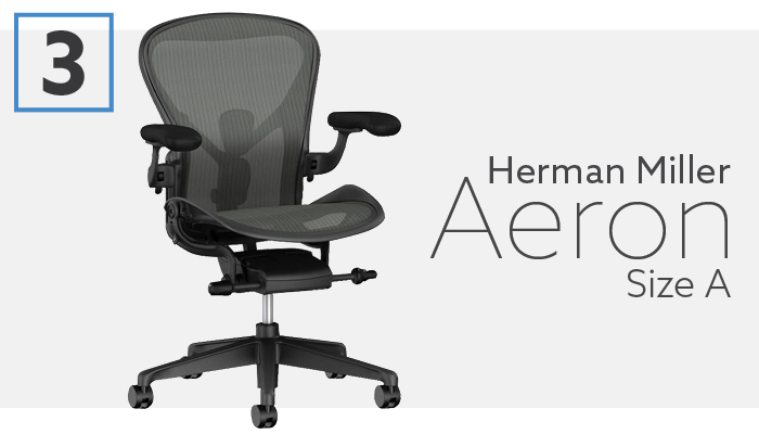 #3 Herman Miller Aeron Size A For Petite chairs
