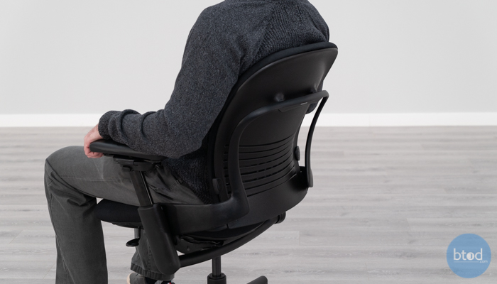 "Showing Backrest With 6'2"" User in Leap v1"