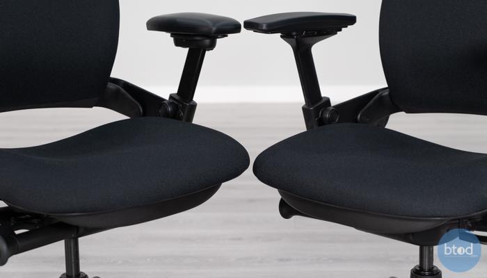 Seat Thickness Leap v1 (left) vs v2