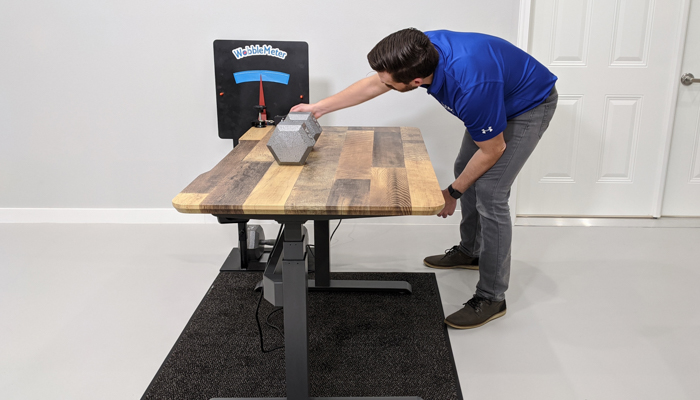 "VARIDESK Rocking Deflection Test Setup @ 30"""