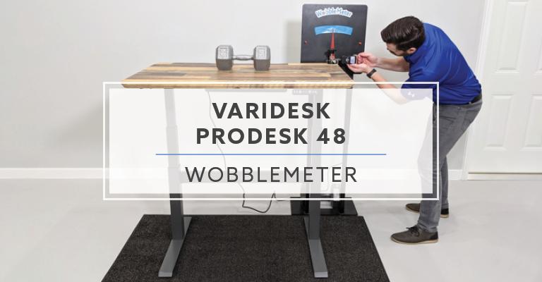 WobbleMeter: Stability Testing For VARIDESK ProDesk® 48 Electric Header