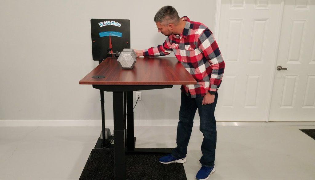 """Jarvis Rocking Deflection Test Setup @ 46"""""""