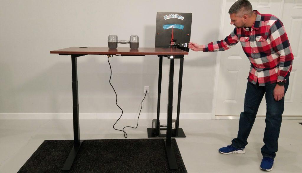 "Jarvis Wobble Deflection Test Setup @ 46"""