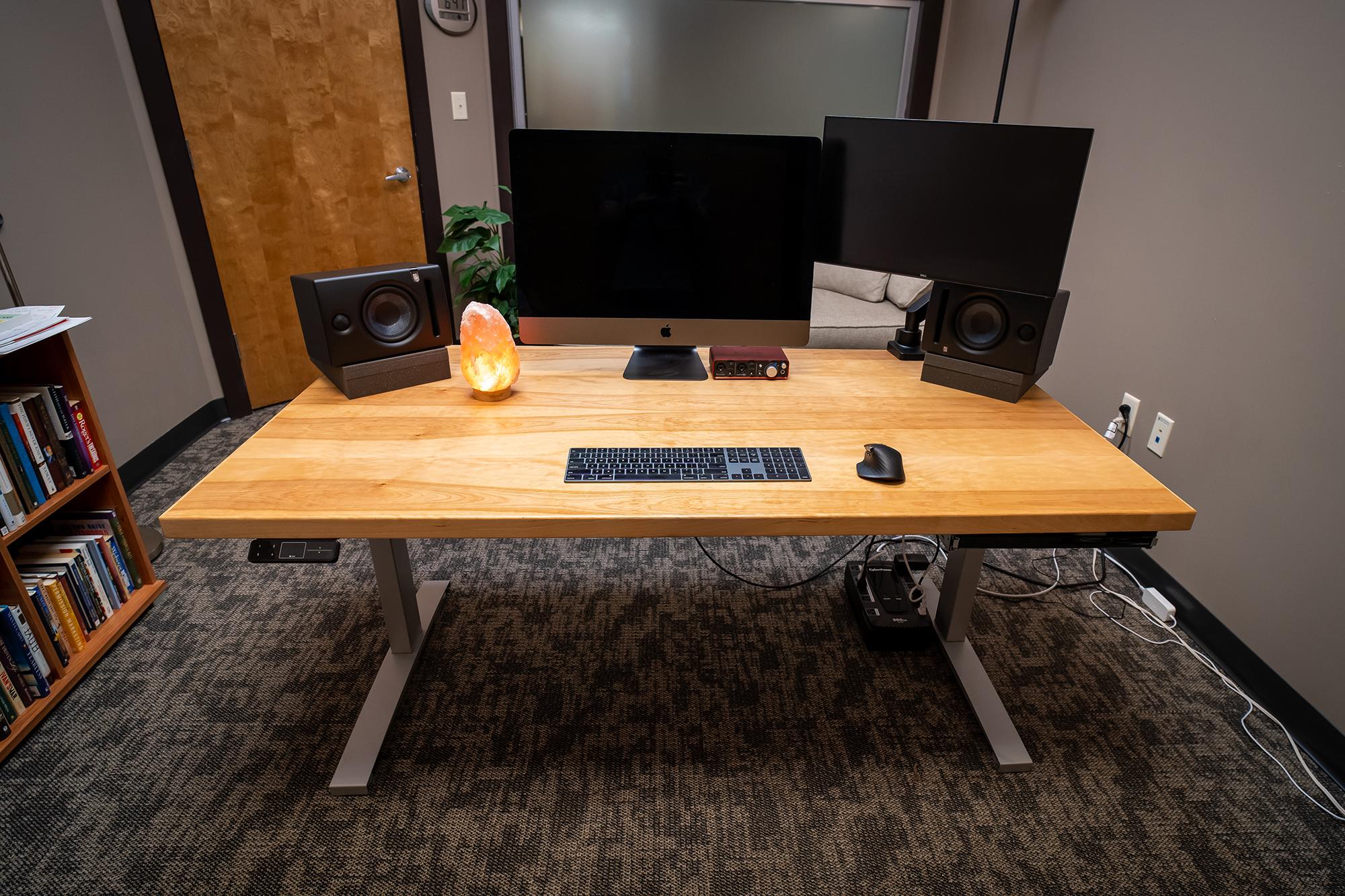 "Custom DIY Top with 27.5"" x 57.125"" Silver VertDesk Adjustable Desk Frame"