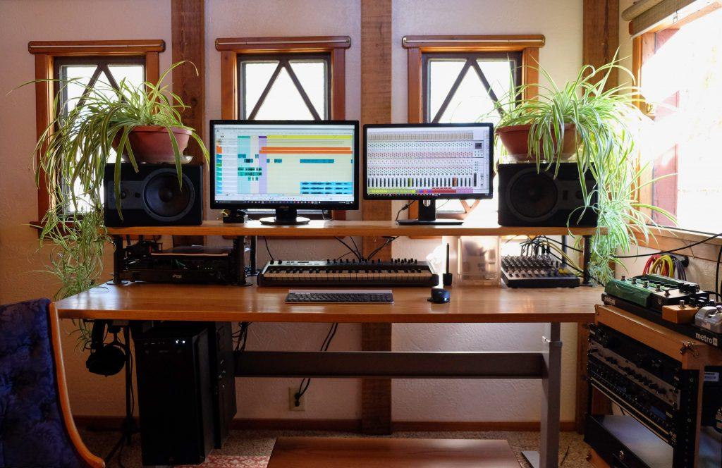 "Custom DIY Top with 27.5"" x 69.125"" Silver VertDesk Standing Desk Frame"