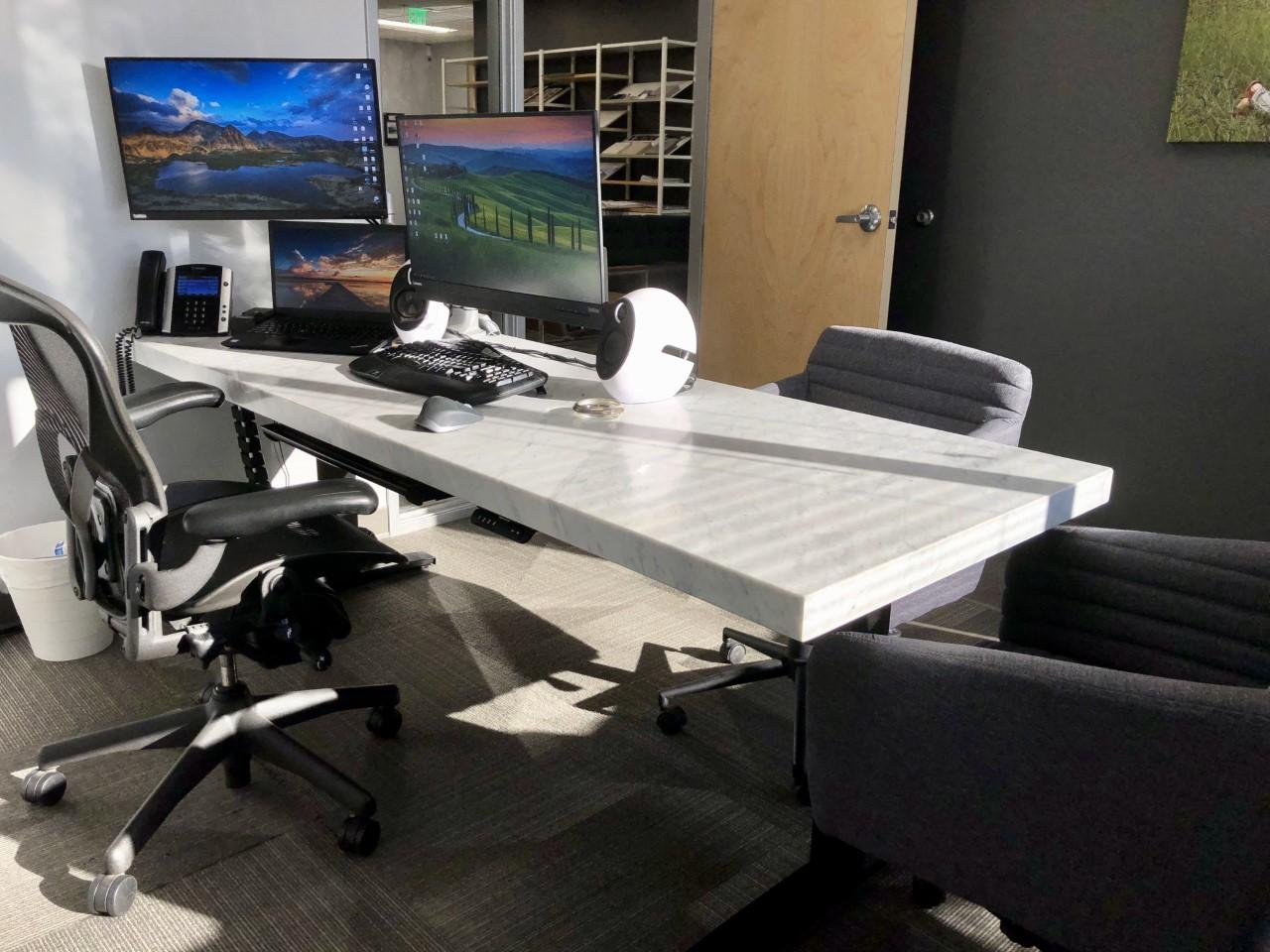 "Custom DIY Top with 27.5"" x 69.125"" Black VertDesk Stand Up Desk Frame"