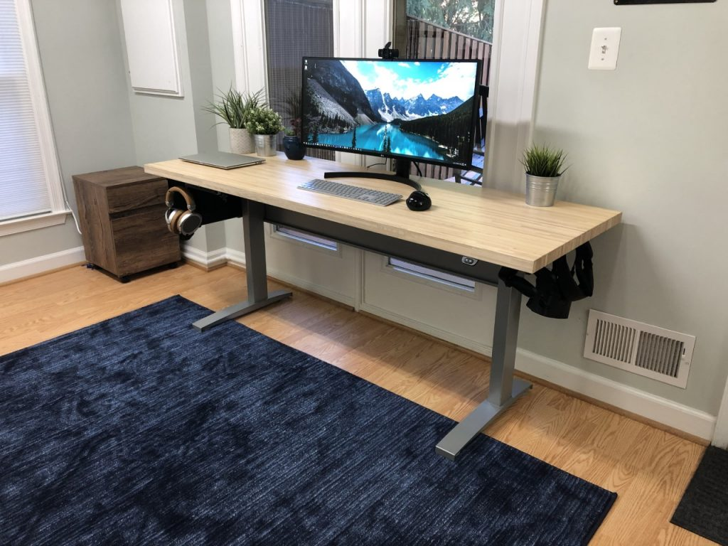 "Custom DIY Top with 22.5"" x 57.125"" Silver VertDesk Standing Desk Frame"