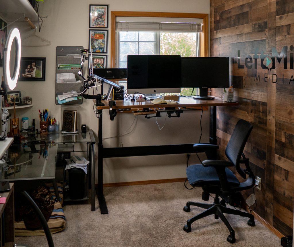 "Custom DIY Top with 27.5"" x 57.125"" Black VertDesk Standing Desk Frame"