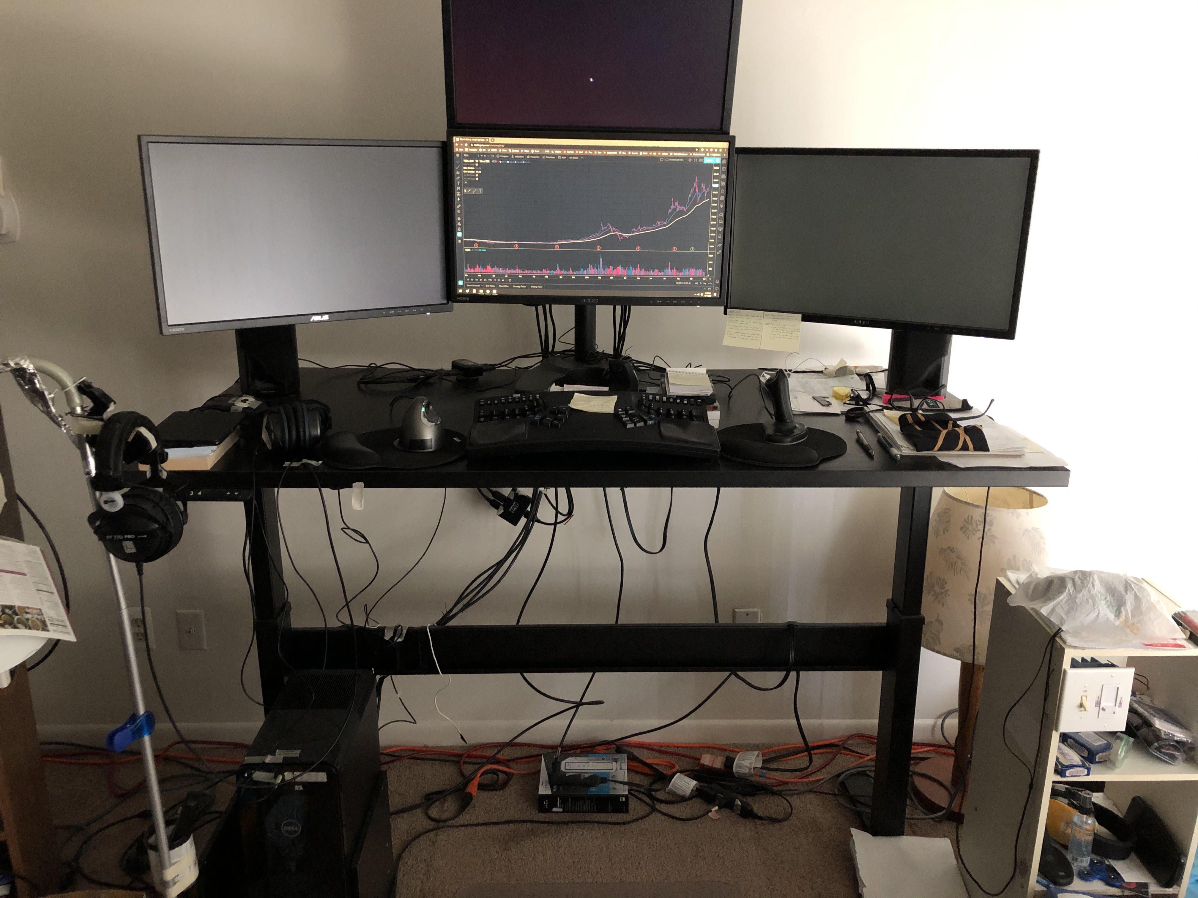 "30"" x 60"" Black Laminate Top with Black VertDesk Standing Desk Frame"