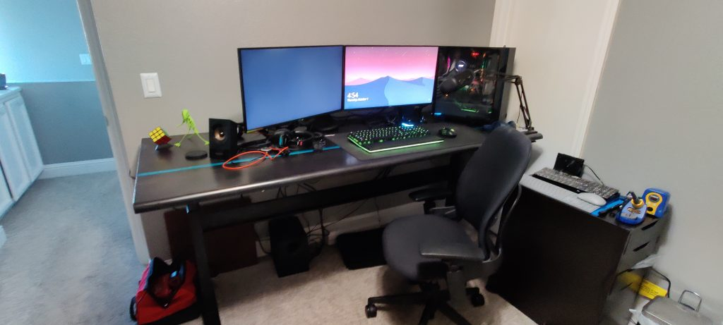 "Custom DIY Top with 27.5"" x 69.125"" Black VertDesk Adjustable Desk Frame"