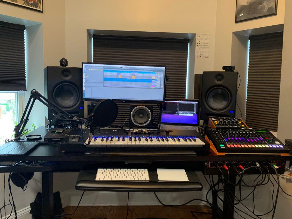 "30"" x 66"" Black Laminate Top with Black VertDesk Electric Standing Desk Frame"