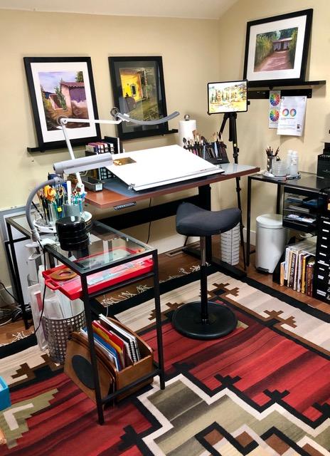 "28"" x 48"" Cherry Laminate Top with Black VertDesk Adjustable Desk Frame"