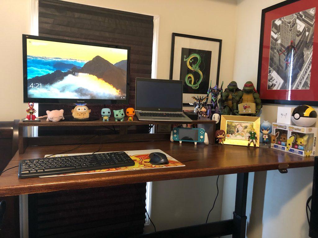 "Custom DIY Top with 27.5"" x 57.125"" Black VertDesk Stand Up Desk Frame"