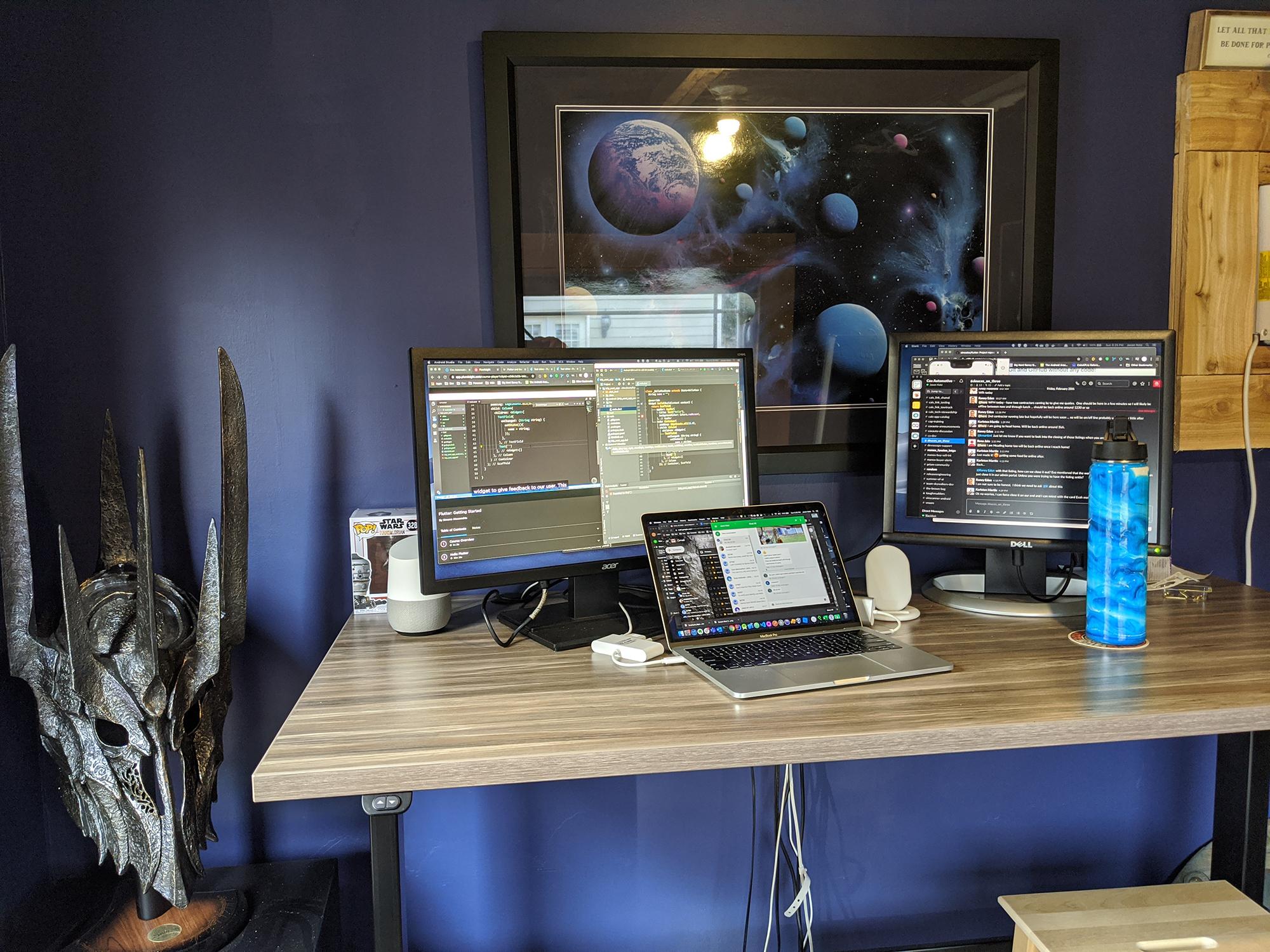 "30"" x 60"" Stromboli Laminate Top with Black VertDesk Adjustable Desk Frame"
