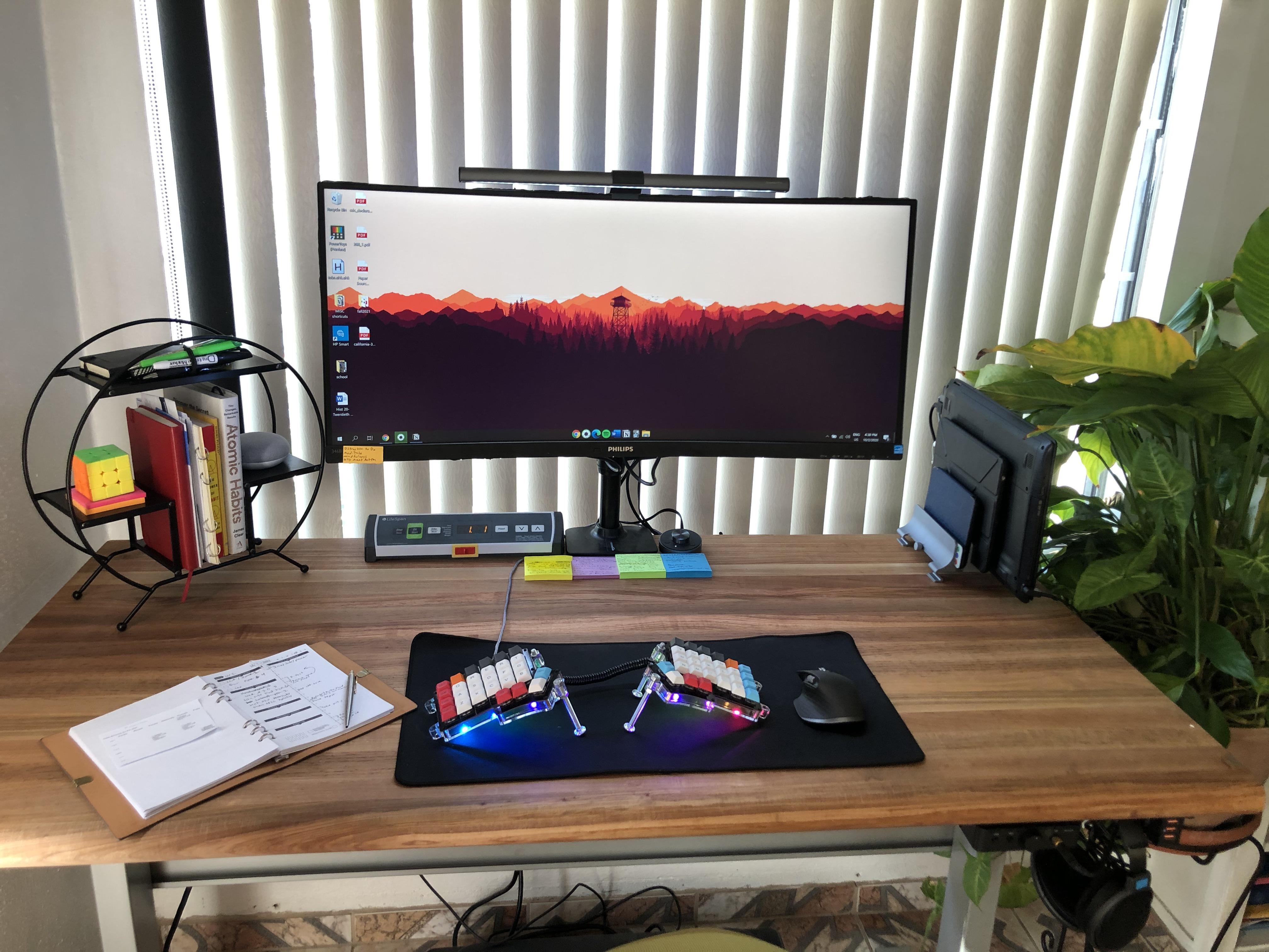 "Custom DIY Top with 27.5"" x 57.125"" Silver VertDesk Standing Desk Frame"