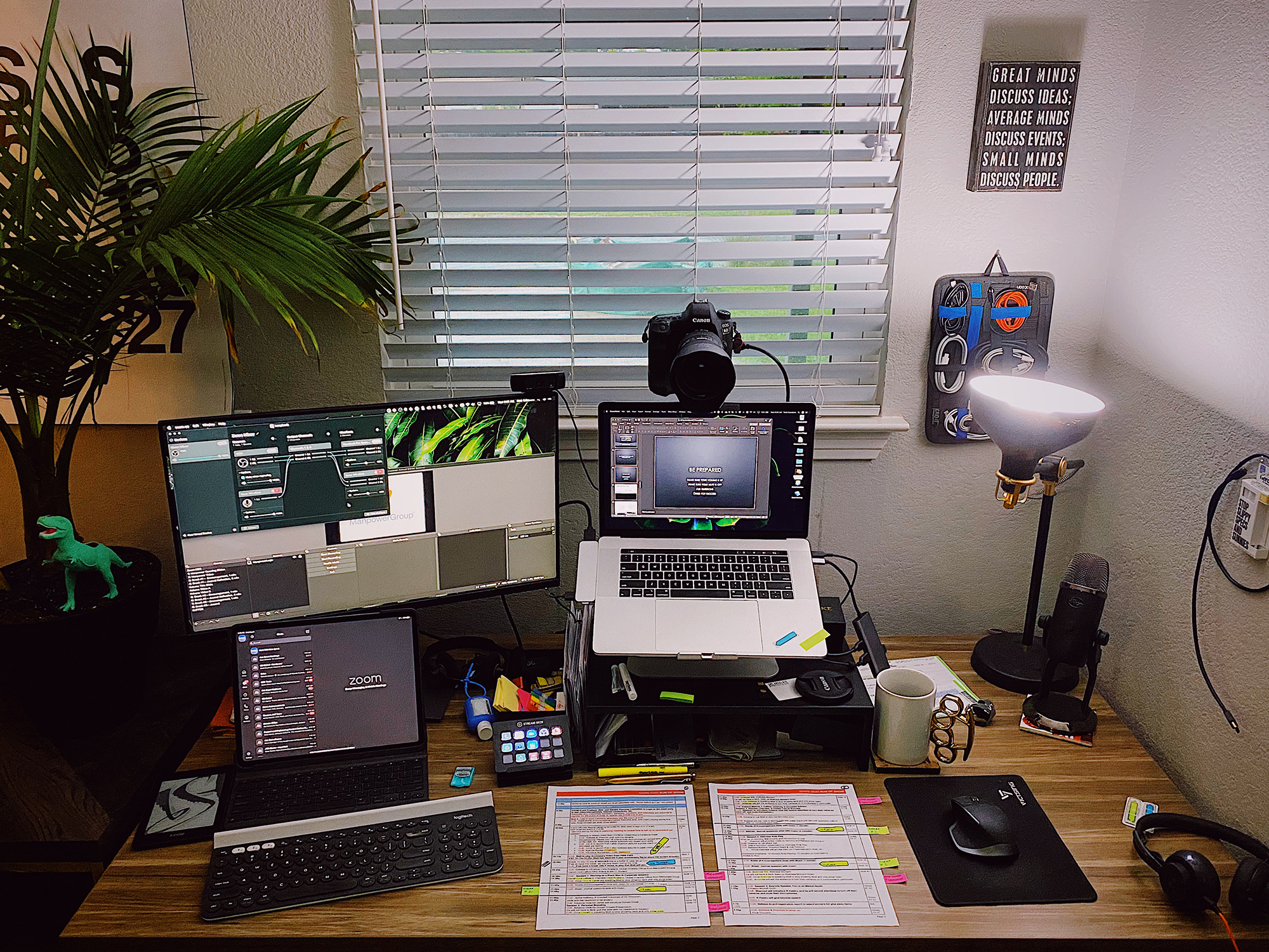 "30"" x 60"" Stromboli Laminate Top with Black VertDesk Stand Up Desk Frame"