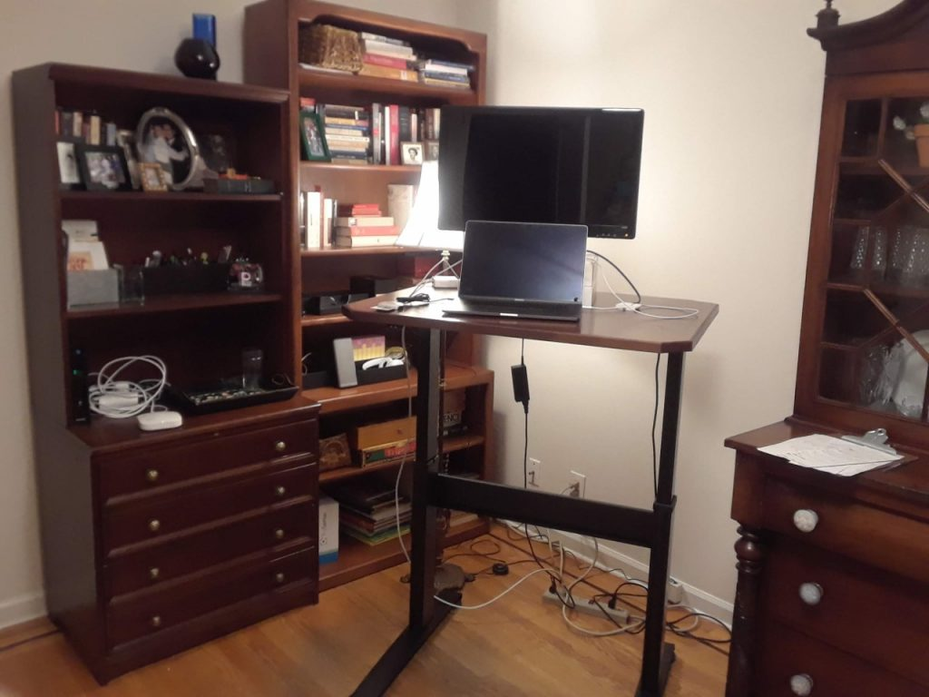"Custom DIY Top with 27.5"" x 33.125"" Black VertDesk Adjustable Desk Frame"