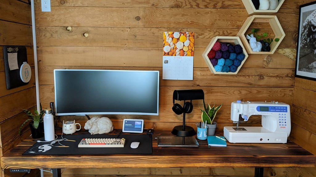 "Custom DIY Top with 22.5"" x 69.125"" Silver VertDesk Standing Desk Frame"