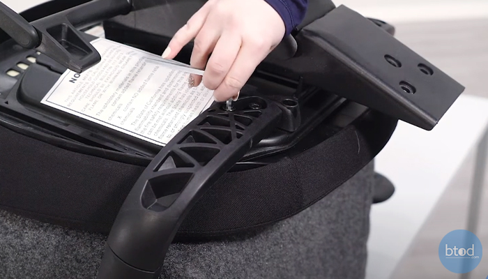 removing office chair armrest