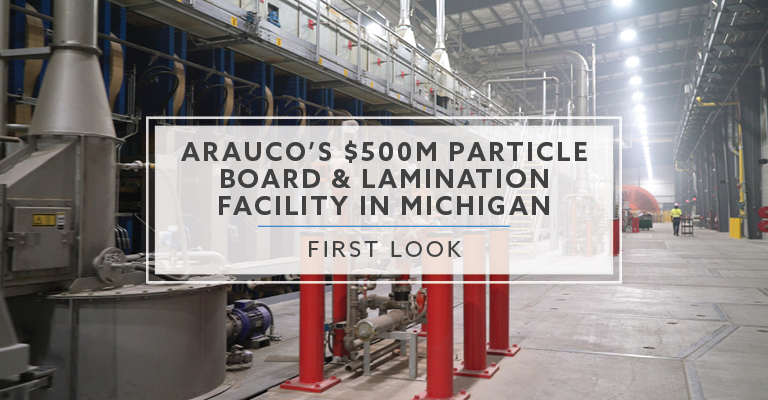 Arauco's $500M Particle Board and Lamination Facility in Michigan