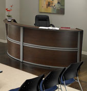L Shaped Reception Desks Curved