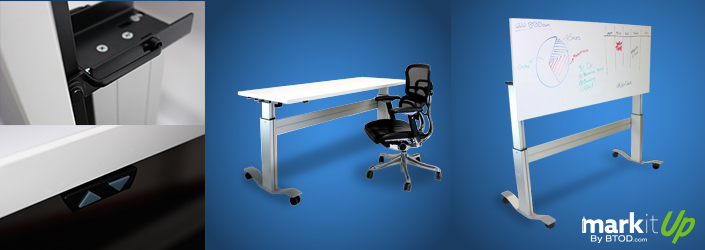 Markit Up The First Adjustable Standing Desk With Flip