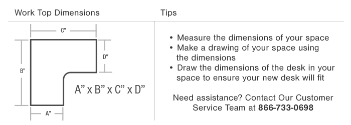 L Shaped Desk Dimensions