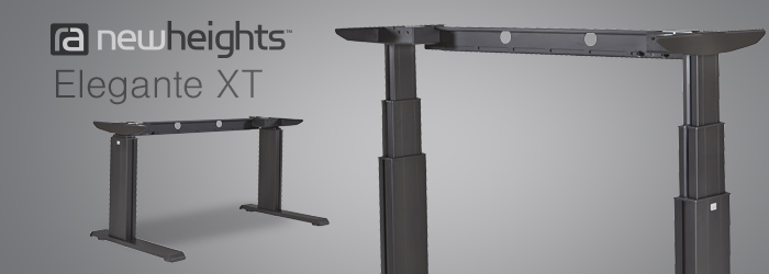Introducing The Powered 24XXNHB Adjustable Desk Base By NewHeights™, Enjoy  The Benefits Of An Adjustable Height Desk With Just The Push Of A Button.