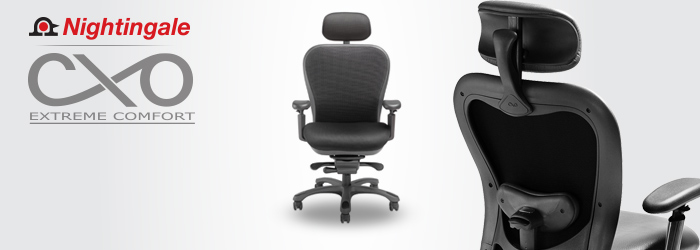 Nightingale CXO Mid Back Heavy Duty Mesh Office Chair