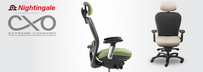 Nightingale CXO Mid Back Mesh Office Chair with Headrest