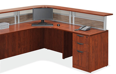 Office Source Borders Ii Series L Shape Receptionist Desk