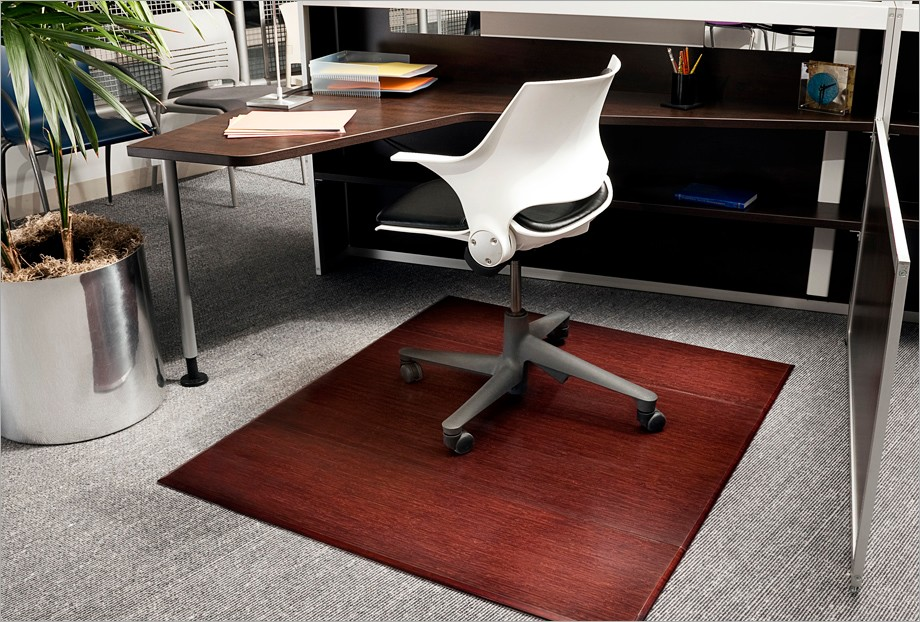 Anji Mountain Bamboo 12mm Chairmat Available In Dark Cherry And Natural