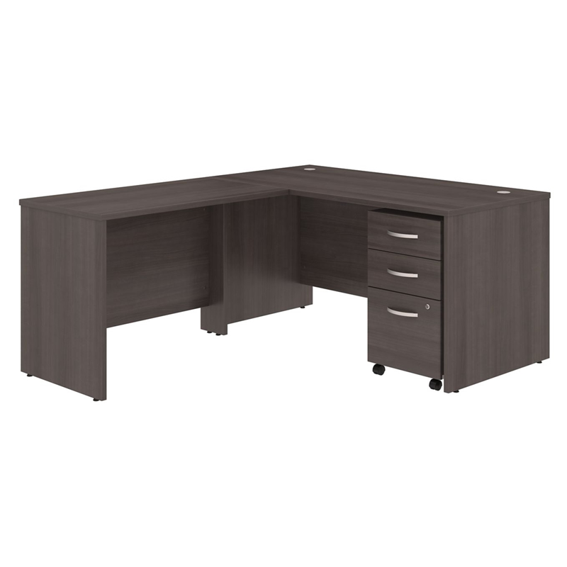 Studio C Storm Grey Laminate Finish L Shaped Desk