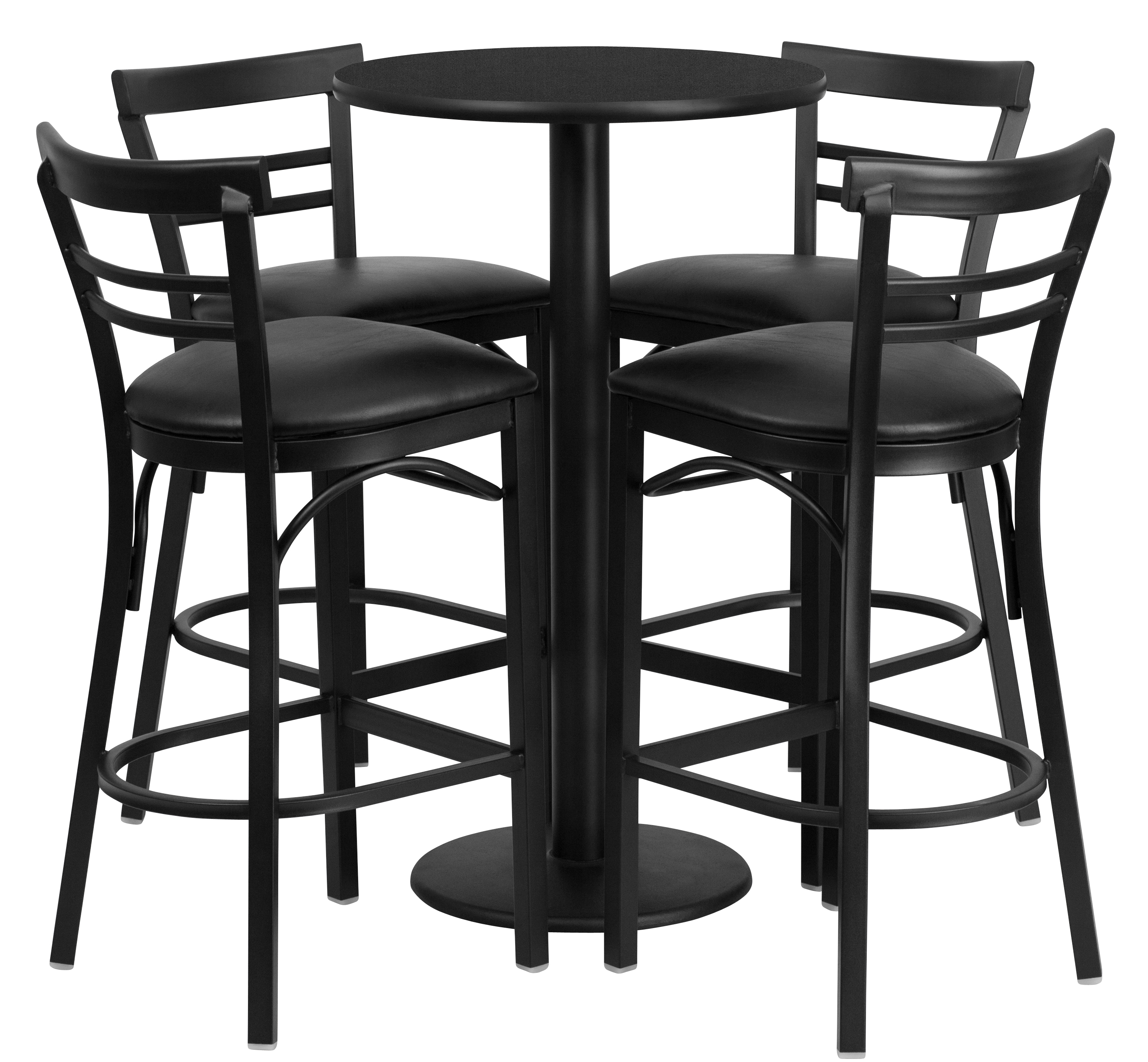 "Best Bar Sets: BTOD 24"" Round Top Bar Height Breakroom Table W/ Stools"