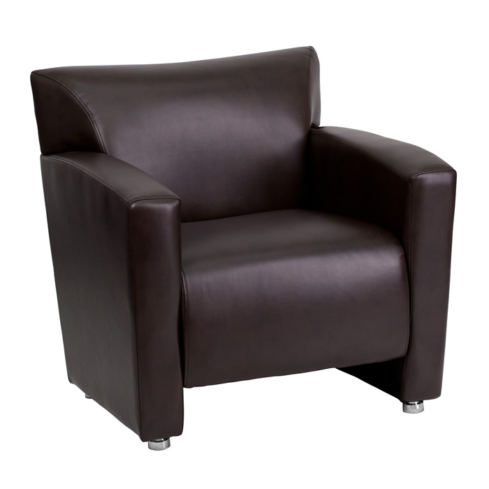 BTOD Majesty Series Leather Lounge Chair Available In Black or Brown