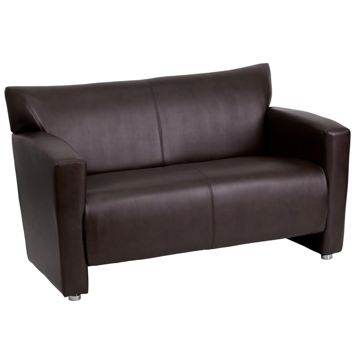 Lobby Area Loveseat Black Leather