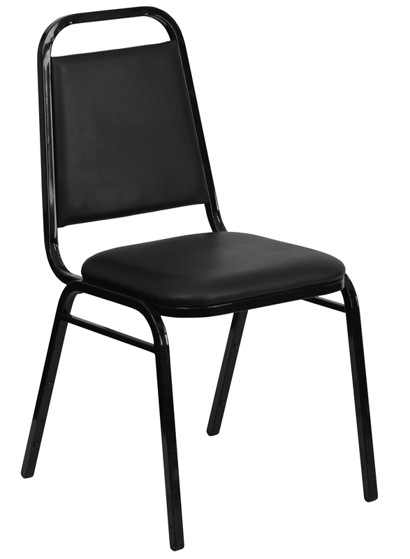 BTOD Trapezoidal Breakroom Chair Dining Height - Rated for 500 lbs!
