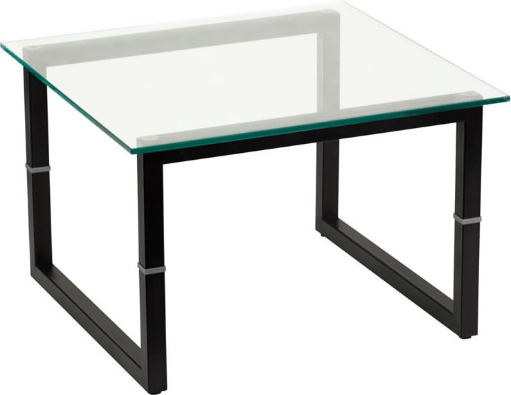 *New* BTOD Glass Top Reception End Table