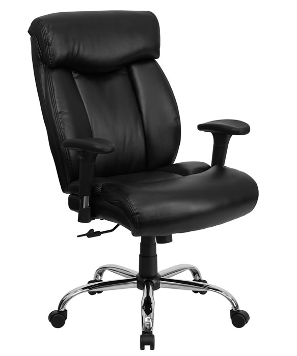 "BTOD Big And Tall Leather Office Chair 22"" Wide Seat Rated For 350 lbs."