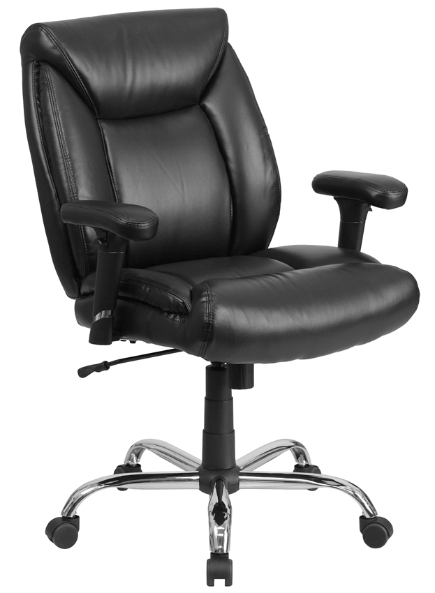 "*New* BTOD Leather Big and Tall Office Chair Rated for 400 lbs. 22.5"" Wide Seat"