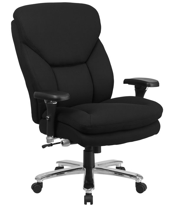 "*New* BTOD Big And Tall 24/7 Fabric Office Chair Rated For 400 lbs. 25"" Wide Seat"